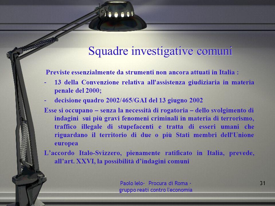 Squadre investigative comuni