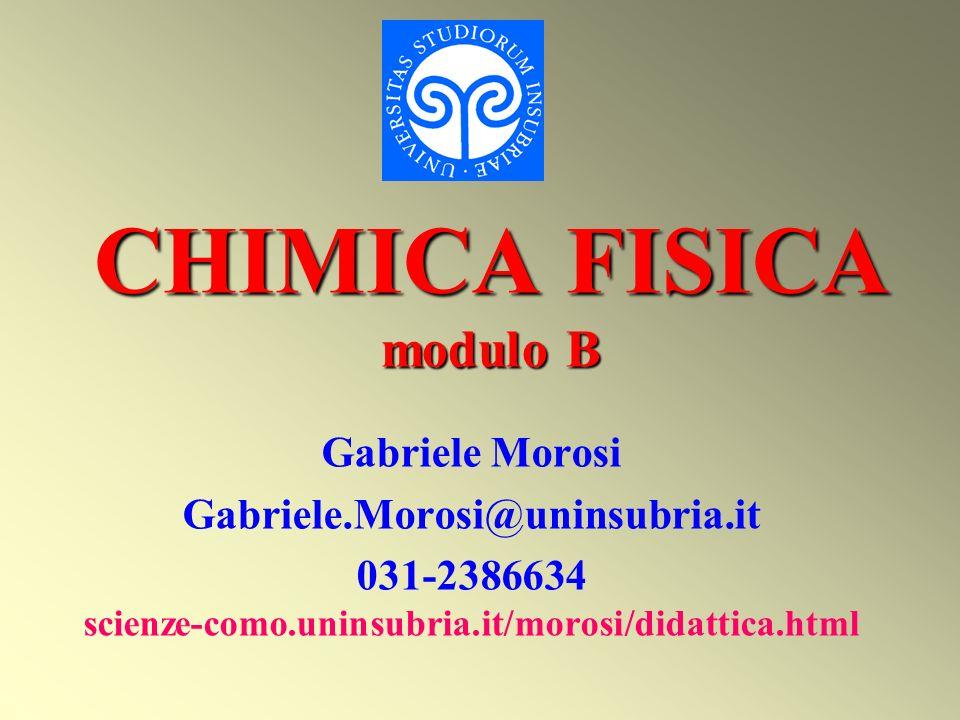 CHIMICA FISICA modulo B