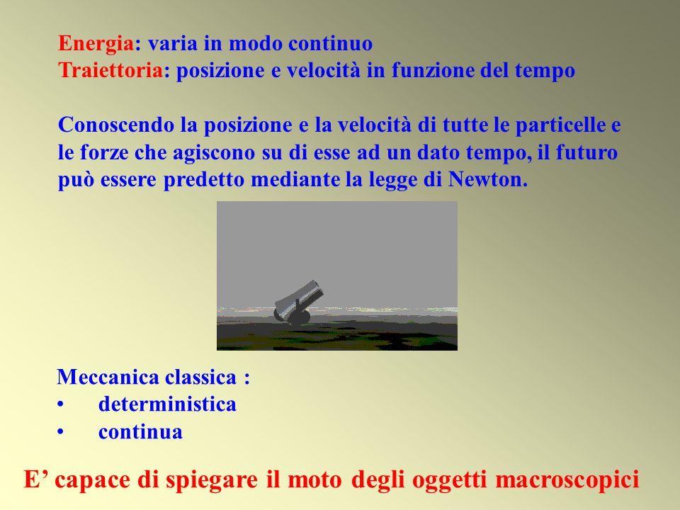 E' capace di spiegare il moto degli oggetti macroscopici