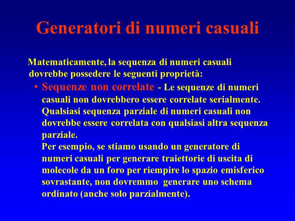 Generatori di numeri casuali