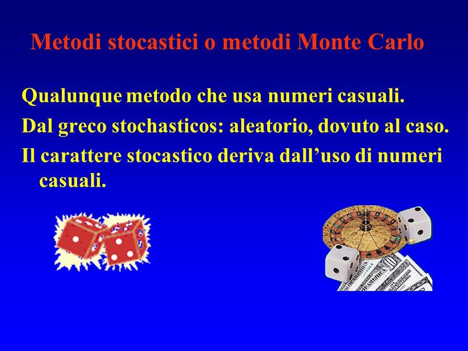 Metodi stocastici o metodi Monte Carlo