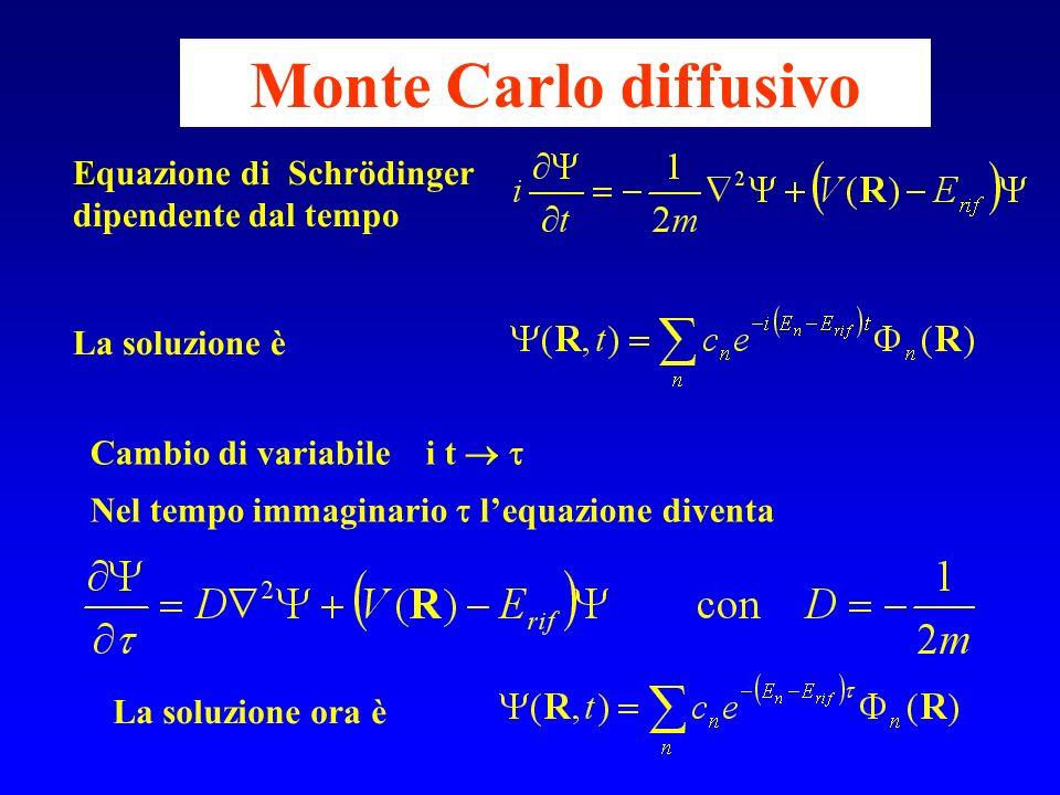 Monte Carlo diffusivo Equazione di Schrödinger dipendente dal tempo