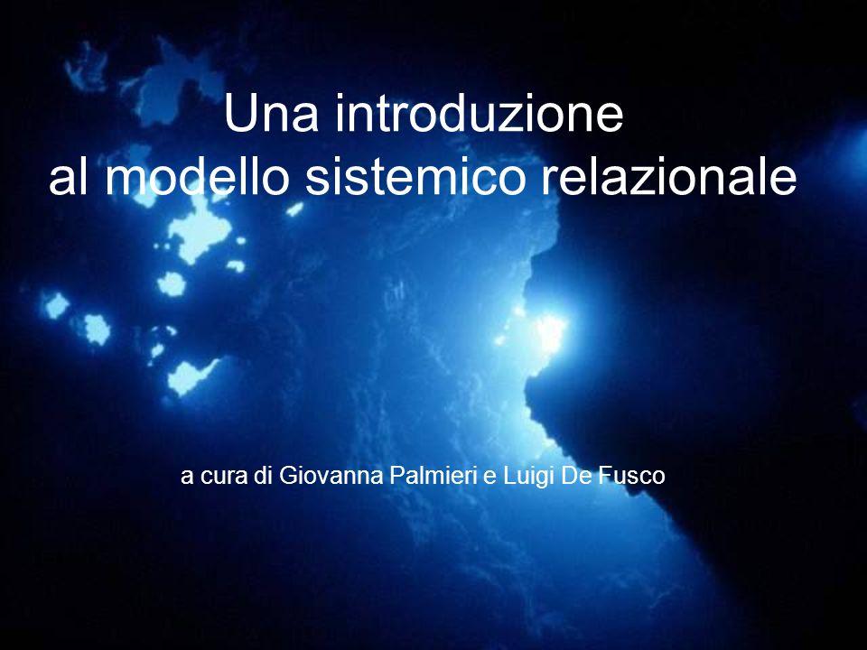 Una introduzione al modello sistemico relazionale a cura di Giovanna Palmieri e Luigi De Fusco