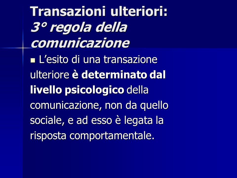 Transazioni ulteriori: 3° regola della comunicazione
