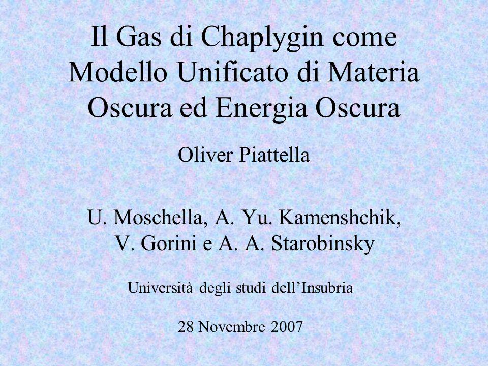 Il Gas di Chaplygin come Modello Unificato di Materia Oscura ed Energia Oscura