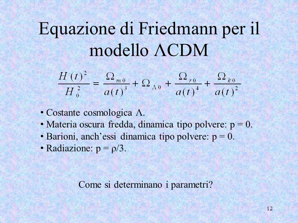 Equazione di Friedmann per il modello ΛCDM