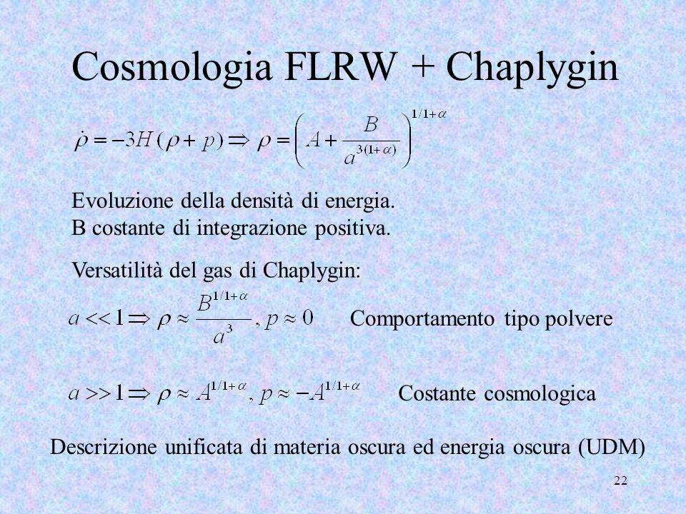 Cosmologia FLRW + Chaplygin