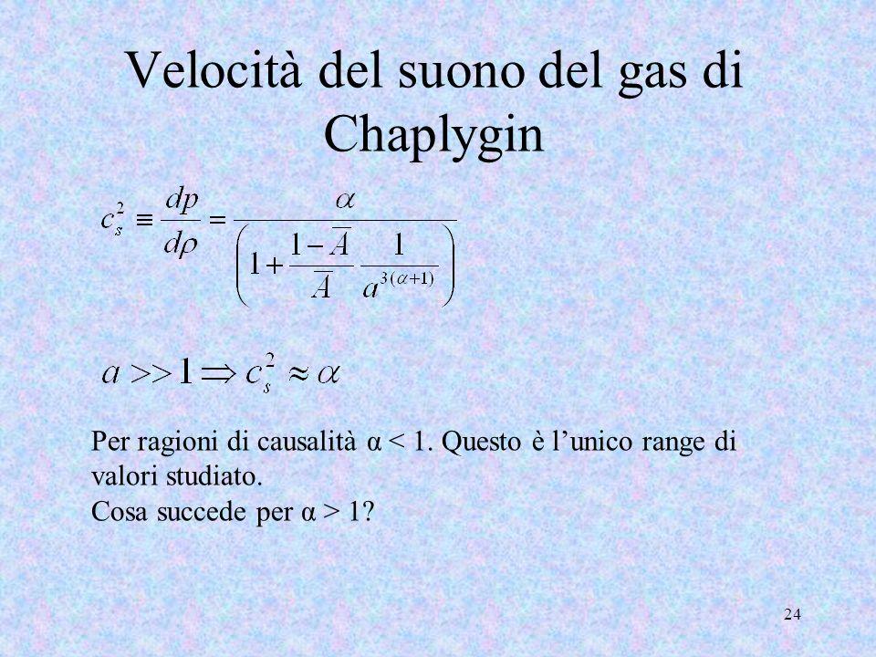 Velocità del suono del gas di Chaplygin