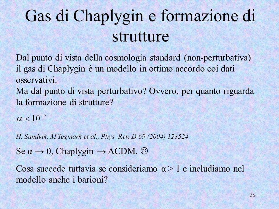 Gas di Chaplygin e formazione di strutture