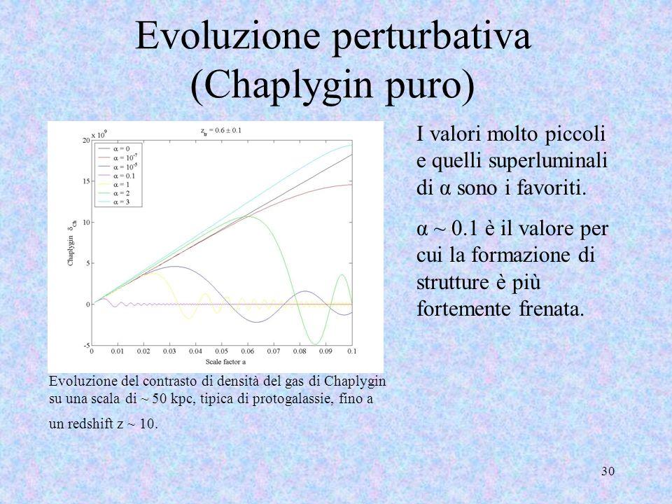 Evoluzione perturbativa (Chaplygin puro)