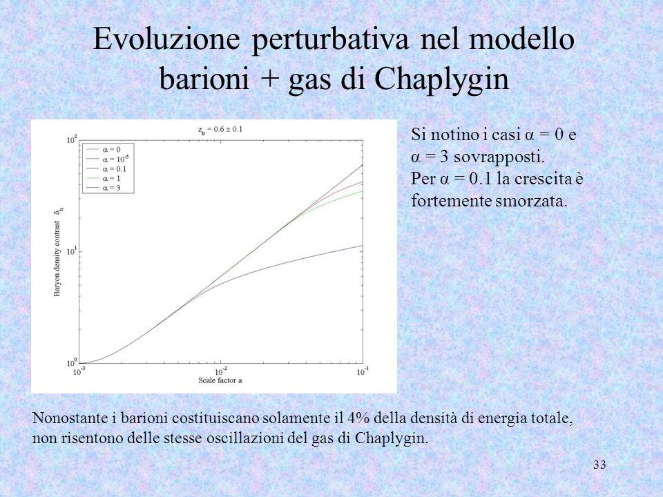 Evoluzione perturbativa nel modello barioni + gas di Chaplygin