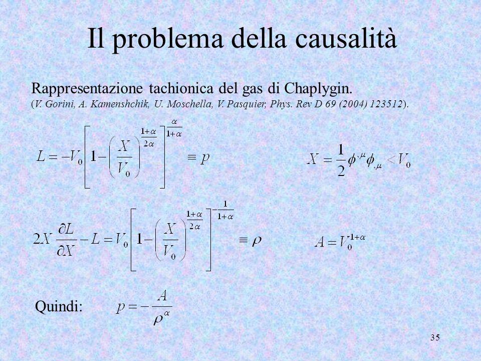 Il problema della causalità