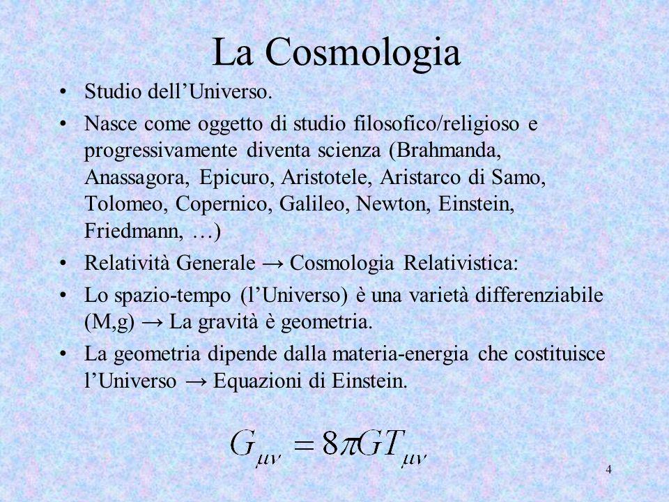La Cosmologia Studio dell'Universo.