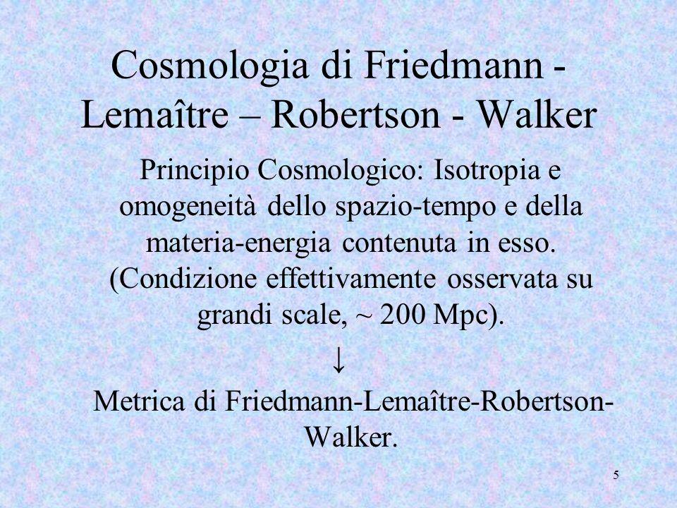 Cosmologia di Friedmann -Lemaître – Robertson - Walker