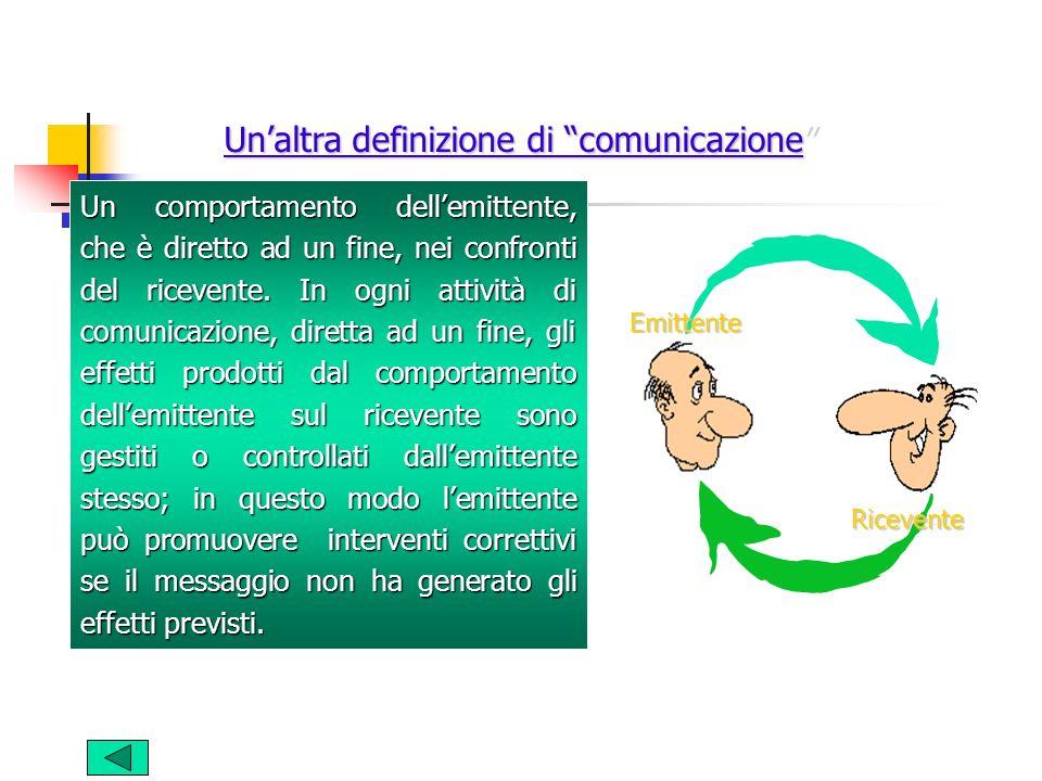 Un'altra definizione di comunicazione
