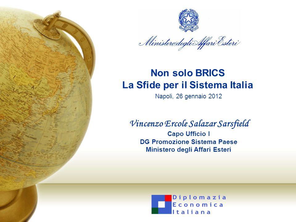 Non solo BRICS La Sfide per il Sistema Italia Napoli, 26 gennaio 2012