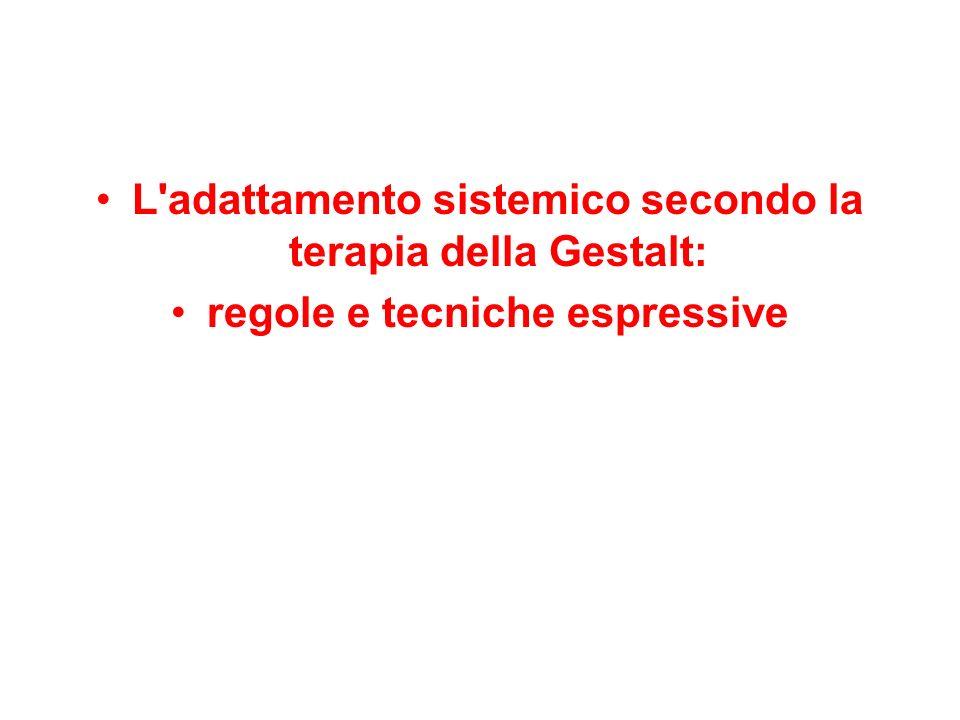 L adattamento sistemico secondo la terapia della Gestalt: