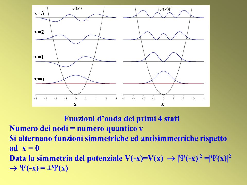 Funzioni d'onda dei primi 4 stati