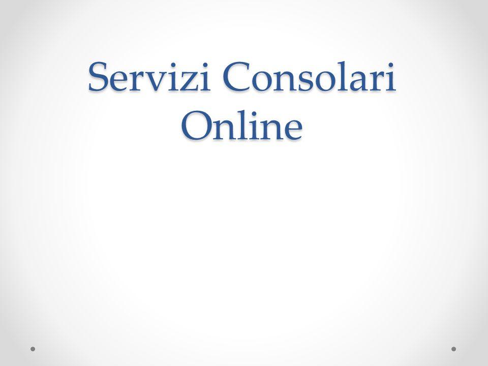 Servizi Consolari Online