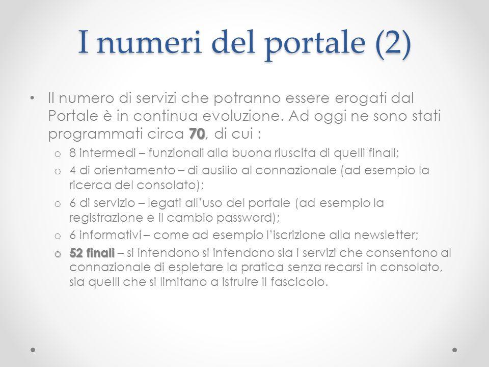 I numeri del portale (2)