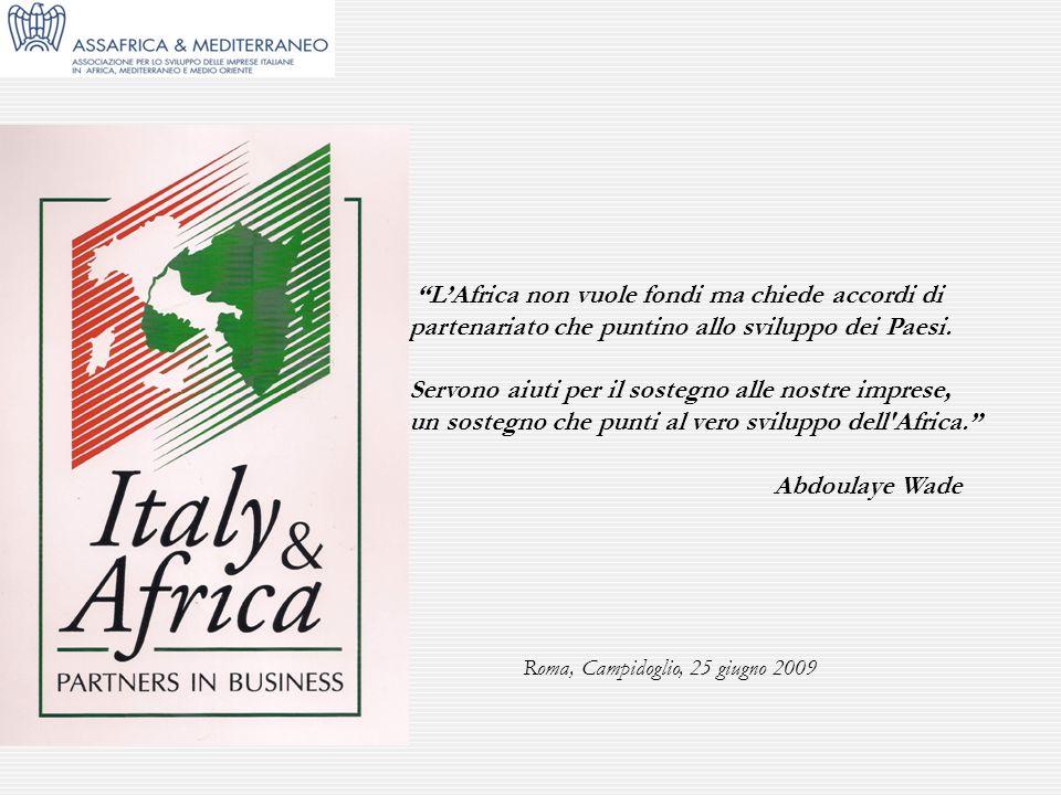 L'Africa non vuole fondi ma chiede accordi di partenariato che puntino allo sviluppo dei Paesi.