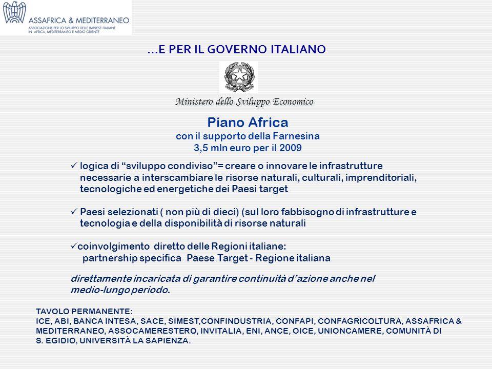 …E PER IL GOVERNO ITALIANO