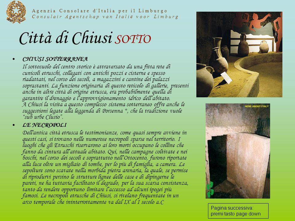 Città di Chiusi SOTTO CHIUSI SOTTERRANEA