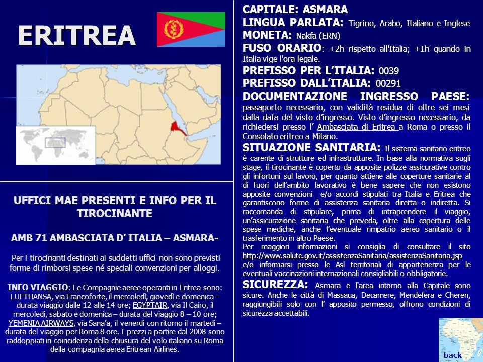ERITREA CAPITALE: ASMARA