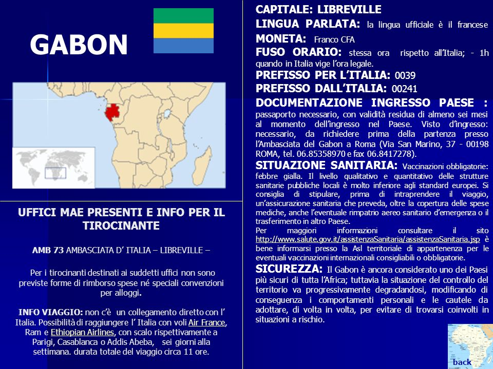 GABON CAPITALE: LIBREVILLE
