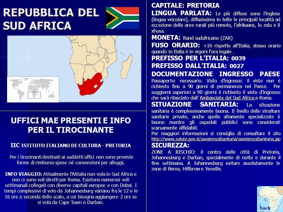 REPUBBLICA DEL SUD AFRICA