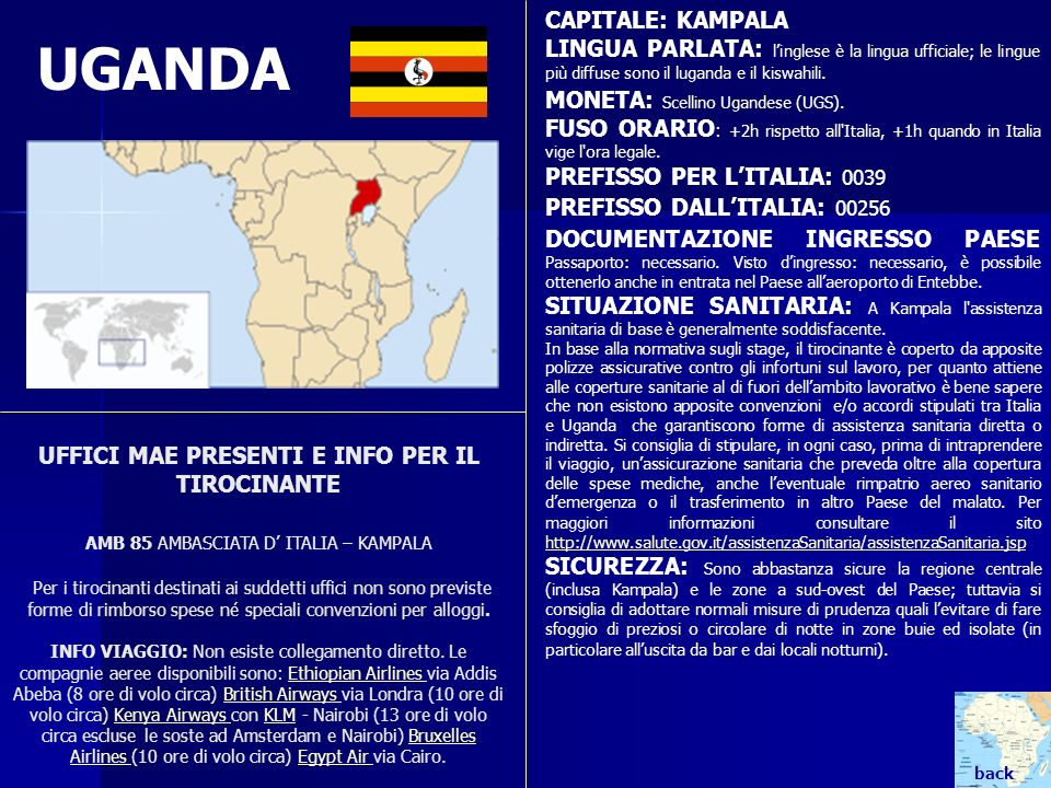 UGANDA CAPITALE: KAMPALA