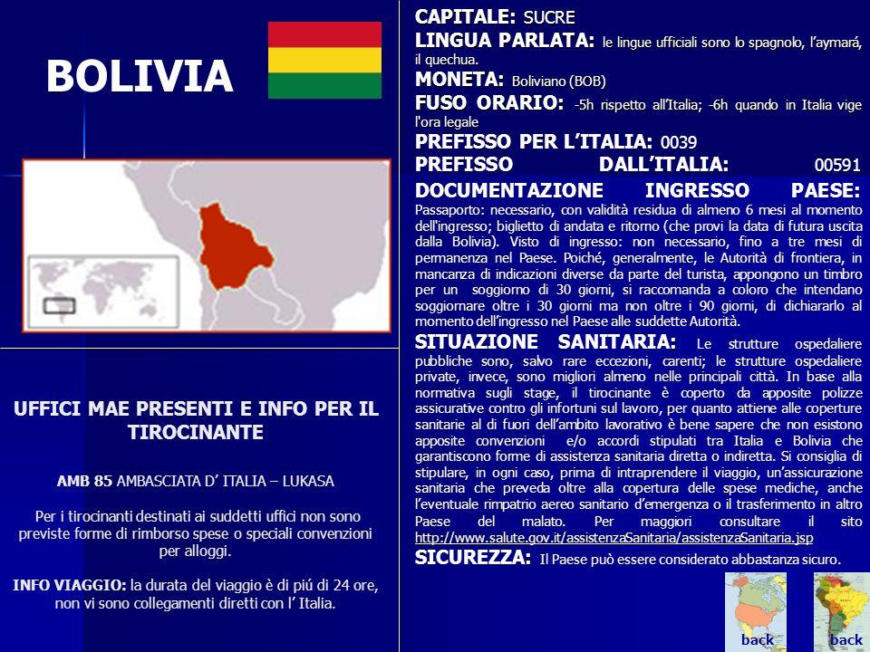 BOLIVIA CAPITALE: SUCRE