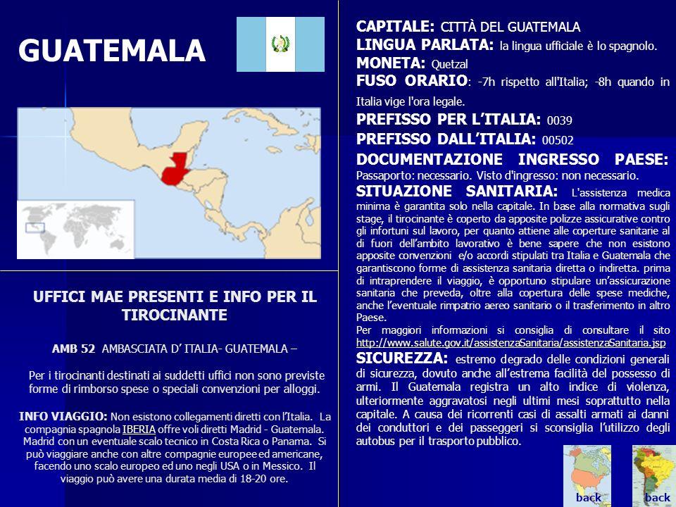 GUATEMALA CAPITALE: CITTÀ DEL GUATEMALA