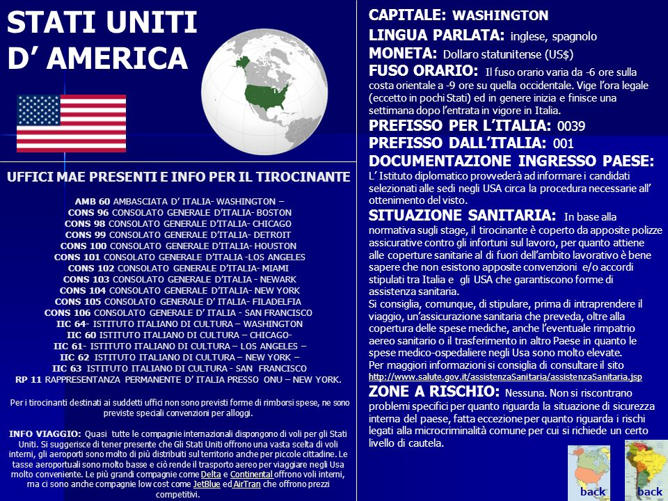 STATI UNITI D' AMERICA CAPITALE: WASHINGTON