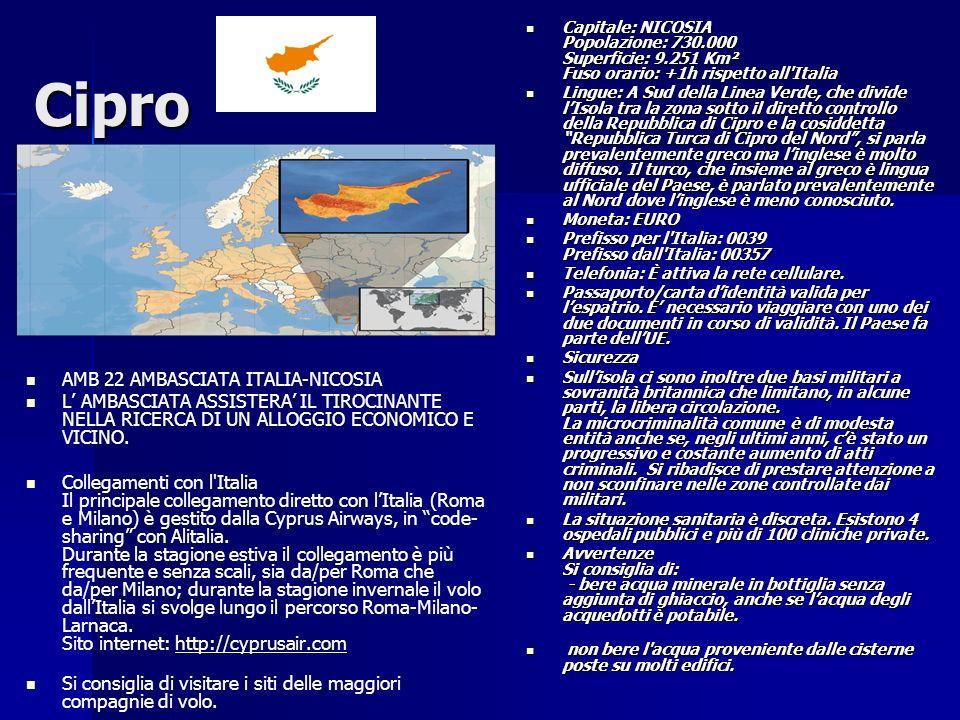 Cipro AMB 22 AMBASCIATA ITALIA-NICOSIA