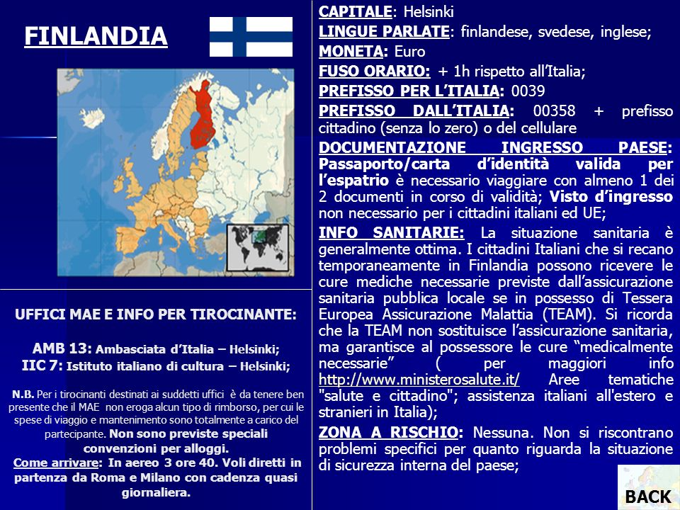 FINLANDIA BACK CAPITALE: Helsinki
