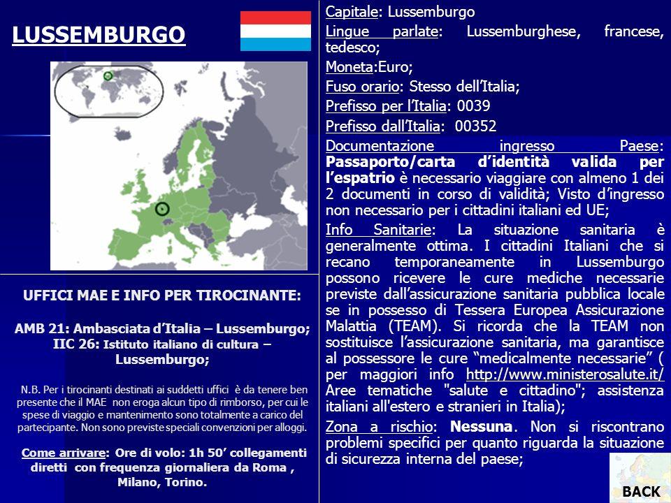 LUSSEMBURGO Capitale: Lussemburgo
