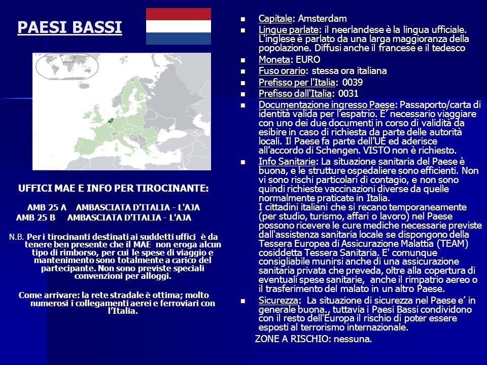 PAESI BASSI Capitale: Amsterdam