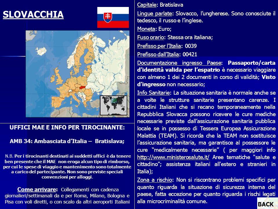 Capitale: Bratislava Lingue parlate: Slovacco, l'ungherese. Sono conosciute il tedesco, il russo e l'inglese.