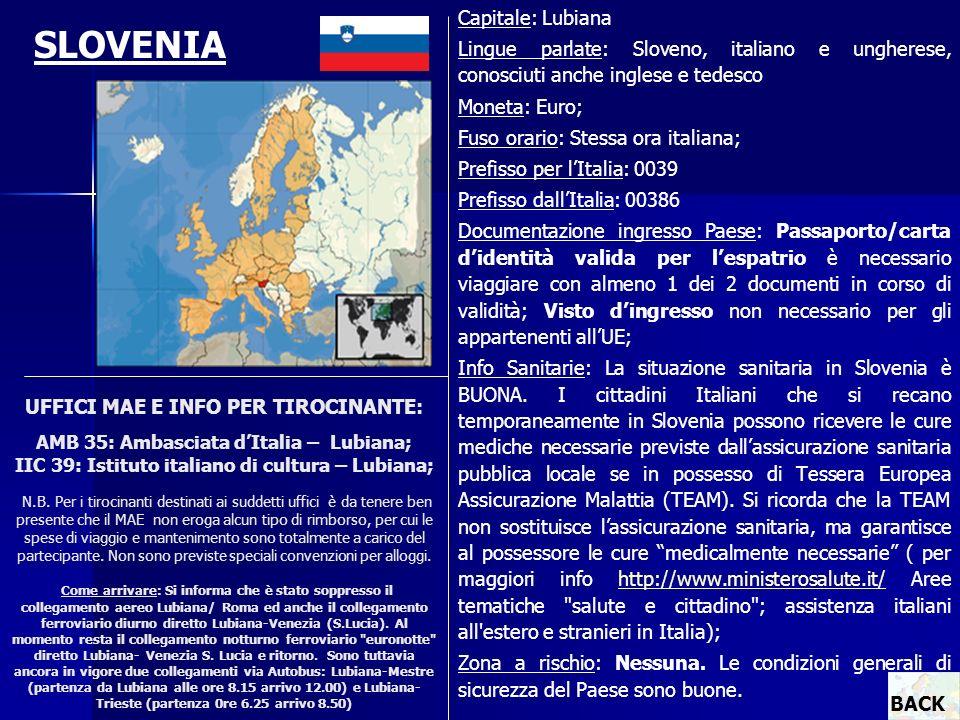 SLOVENIA Capitale: Lubiana