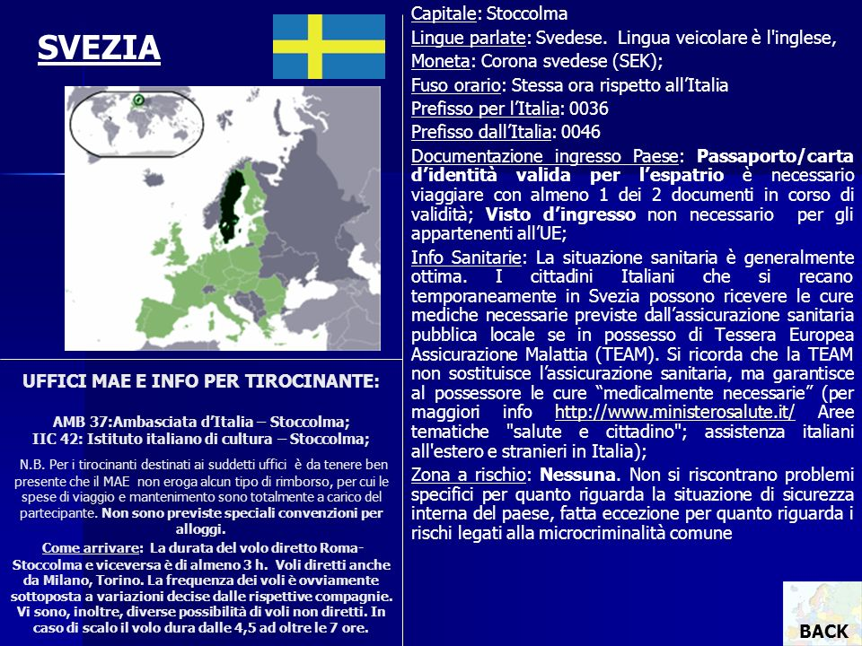 SVEZIA Capitale: Stoccolma