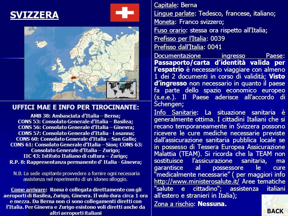 SVIZZERA Capitale: Berna Lingue parlate: Tedesco, francese, italiano;