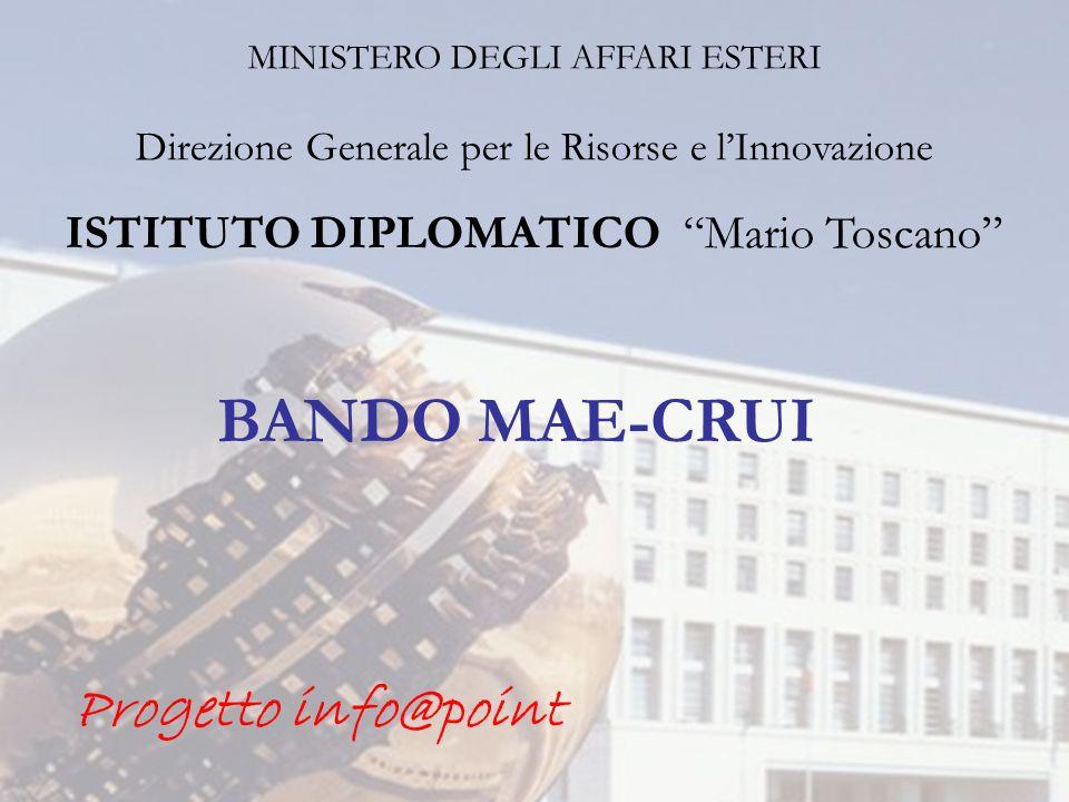 BANDO MAE-CRUI Progetto info@point