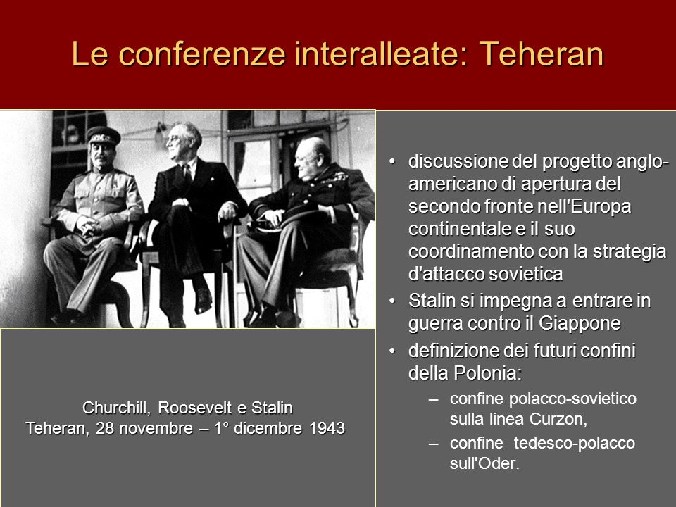 Le conferenze interalleate: Teheran