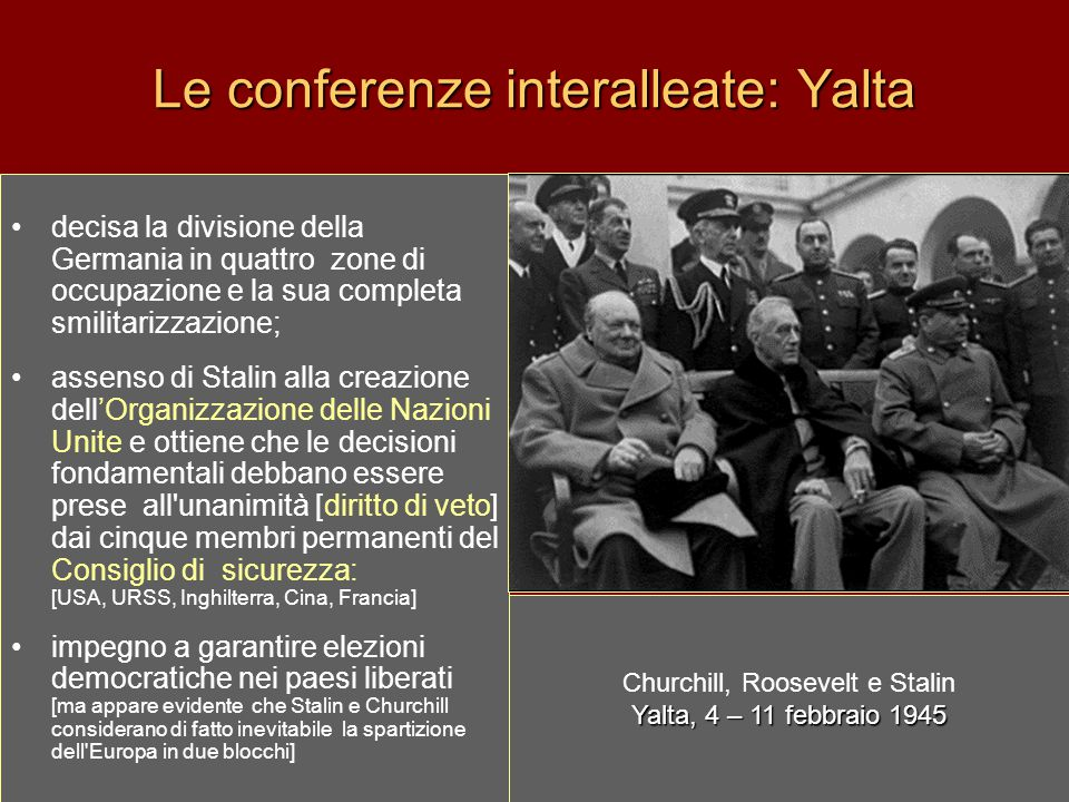 Le conferenze interalleate: Yalta
