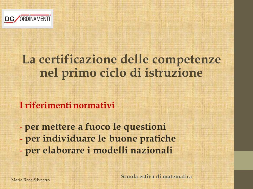 La certificazione delle competenze nel primo ciclo di istruzione