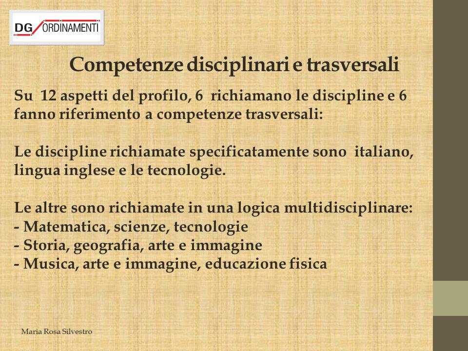Competenze disciplinari e trasversali