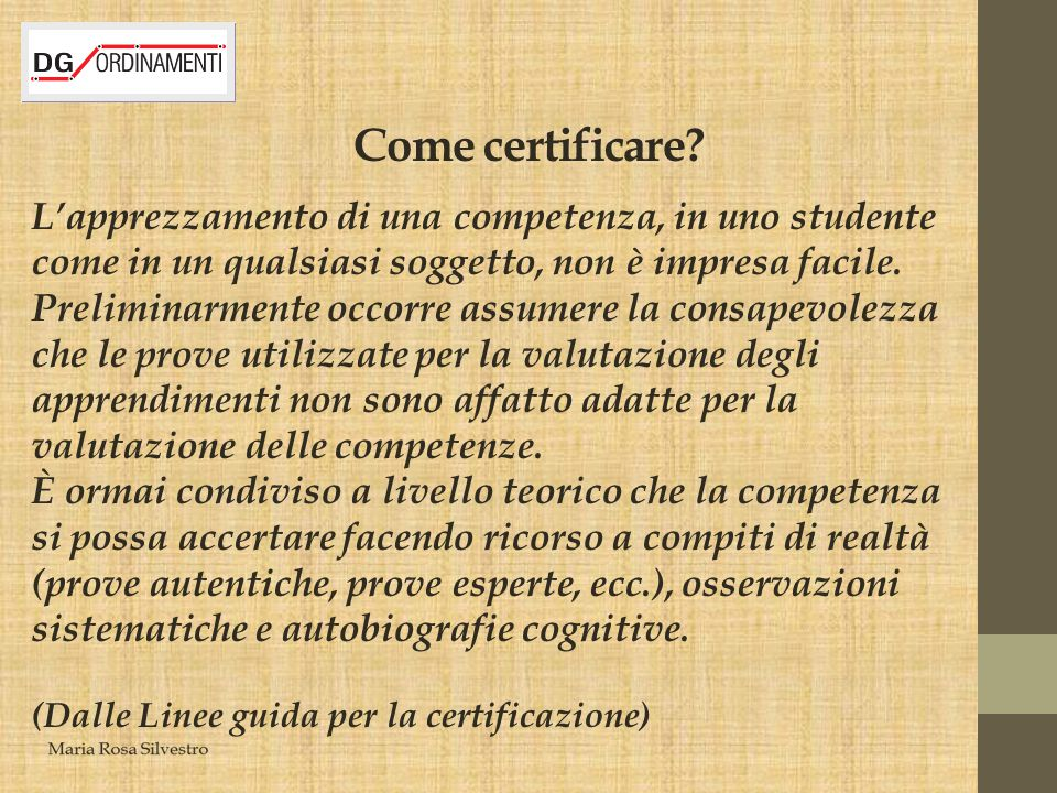 Come certificare