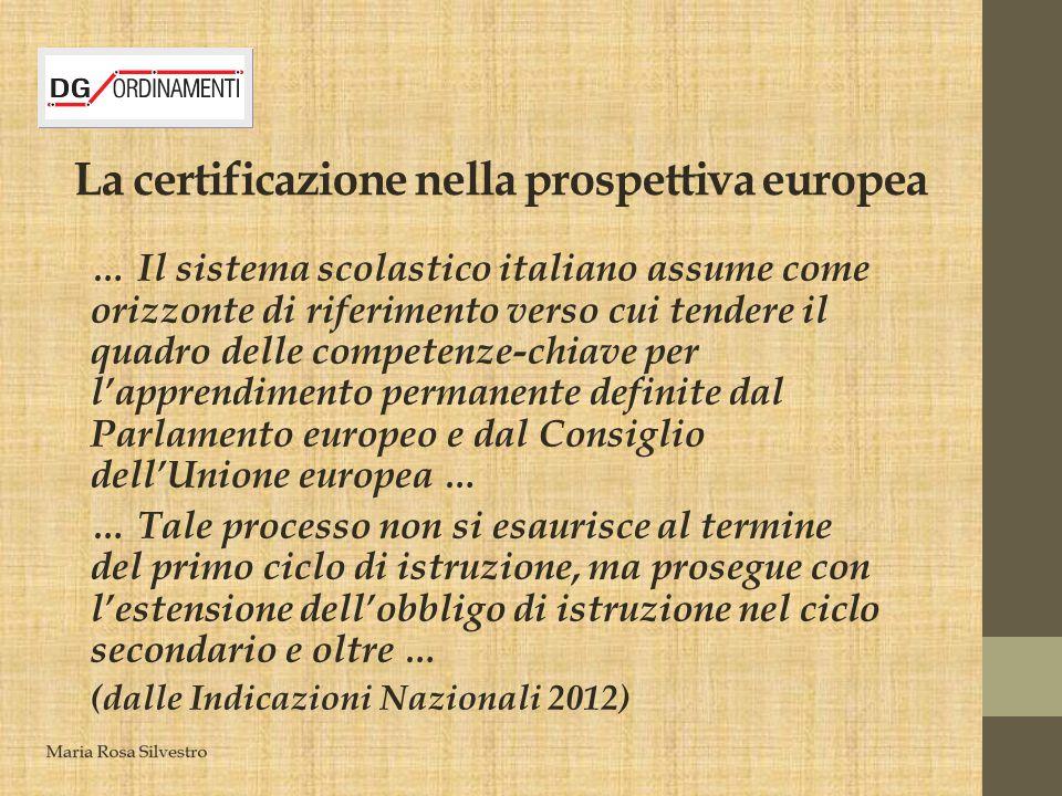 La certificazione nella prospettiva europea