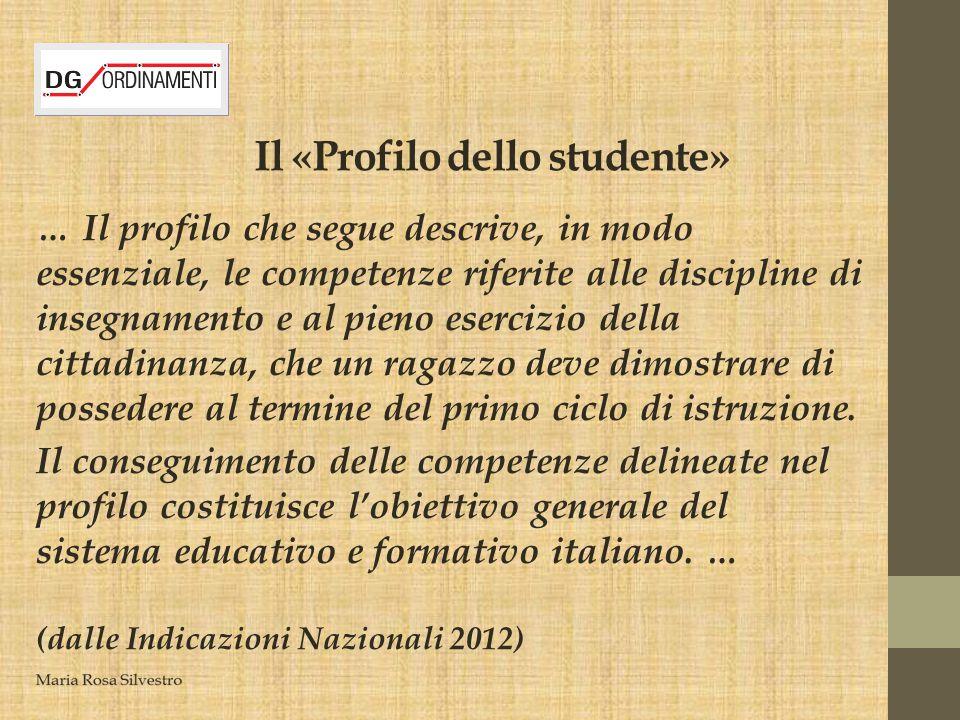Il «Profilo dello studente»